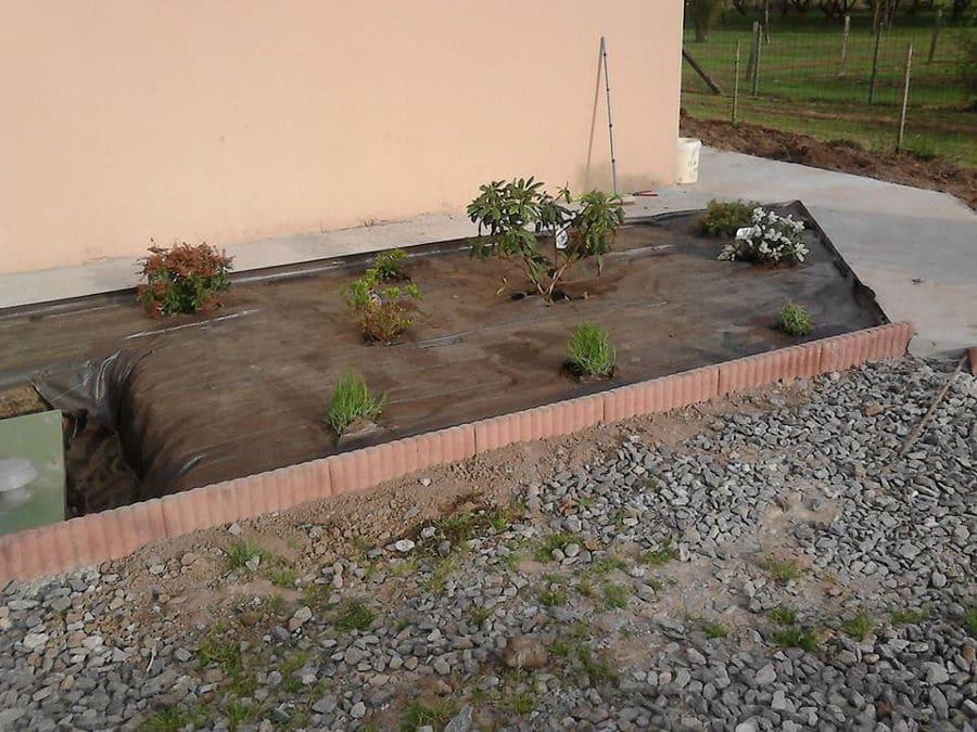 Bordure de jardin par notre paysagiste à St Nazaire