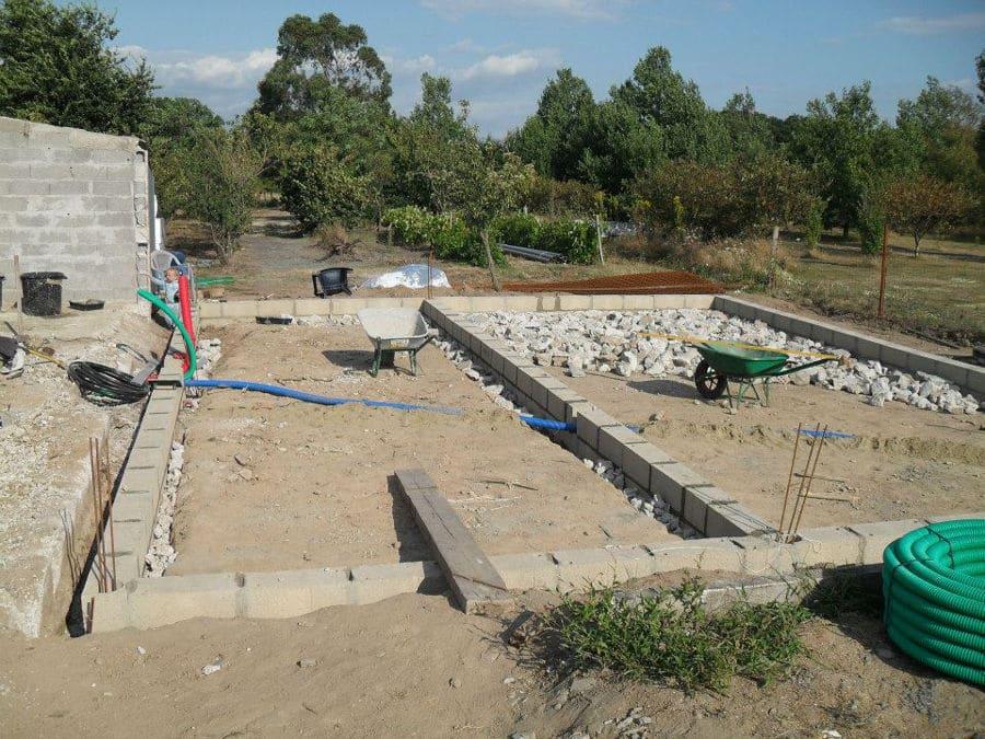 Fondation d'une maison à Donges